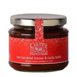 Hot Sun-dried Tomato and Garlic Relish