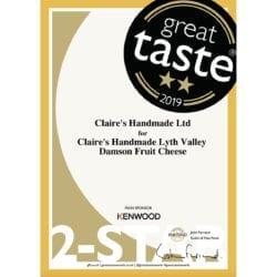 Great Taste Two Stars 2019 - Damson Fruit Cheese