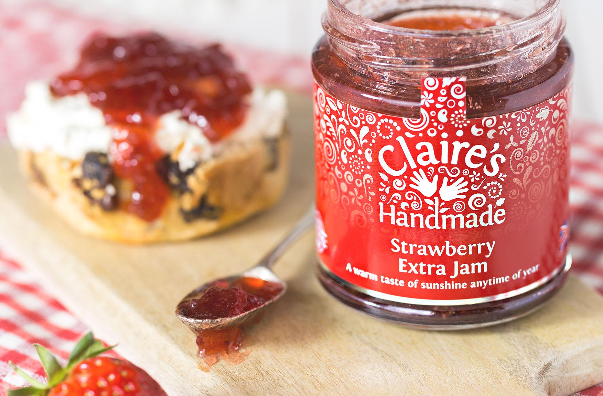 Scone with Strawberry Extra Jam