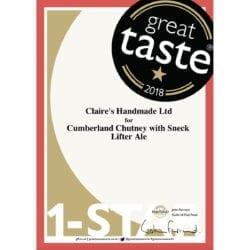 Great Taste One Star 2018 - Cumberland Chutney